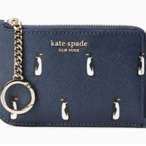 Kate Spade Penguin Medium Zip Card Holder
